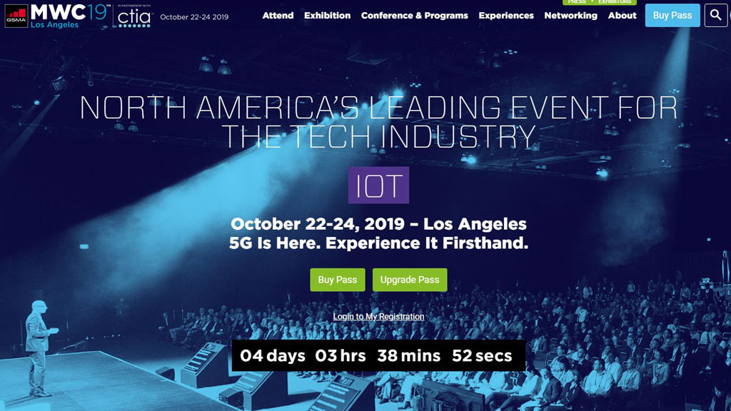 Web del MWC Los Angeles.