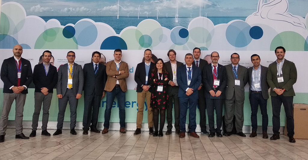 Representantes de las empresas del Galician Offshore Energy Group de Asime en WindEurope Offshore de Copenhague.